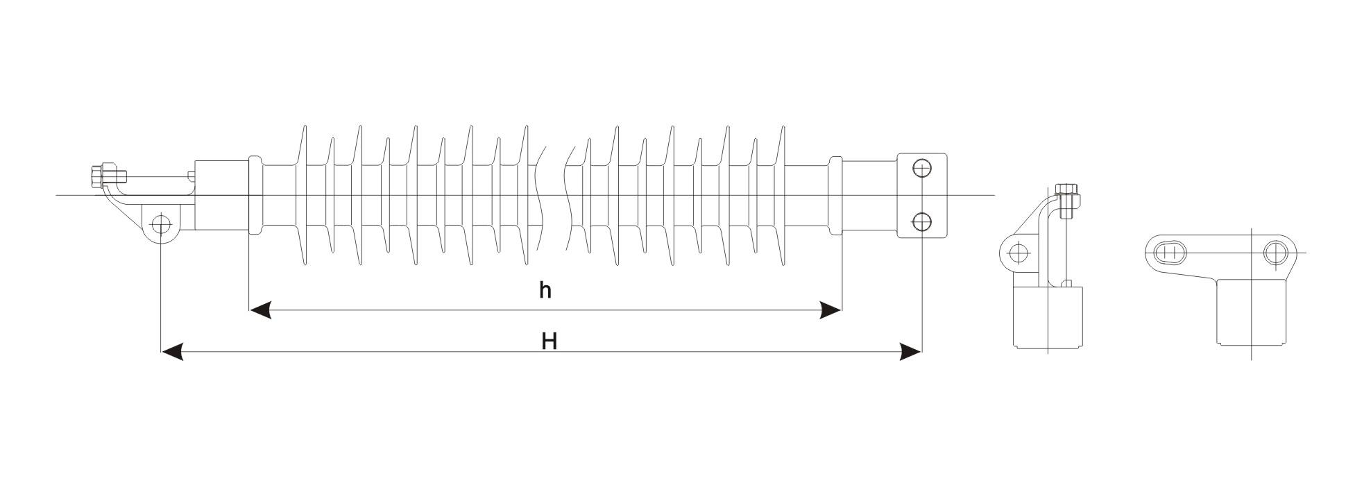 line post insulator  horizontal type  - insulators